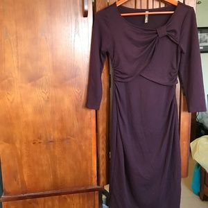 Thyme Maternity Maroon Dress, Sz S